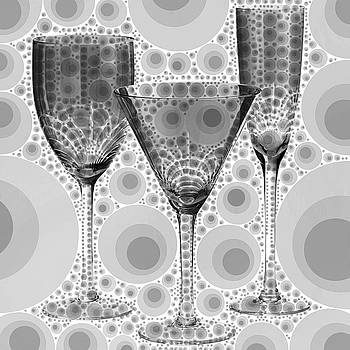 Wine Glass Art-3 by Nina Bradica