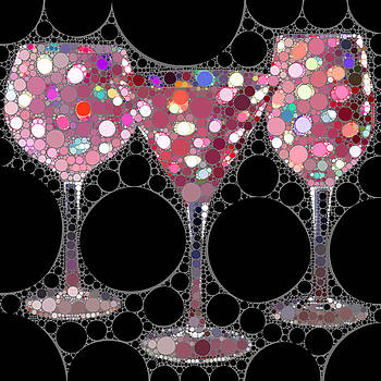 Wine Glass Art-5 by Nina Bradica