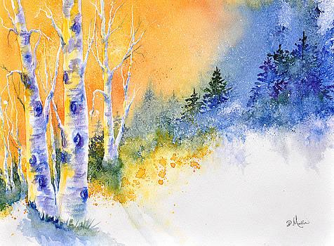 Winter Aspen Glow by Donna Martin