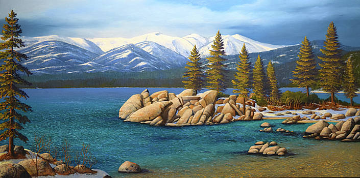 Frank Wilson - Winter At Sand Harbor Lake Tahoe