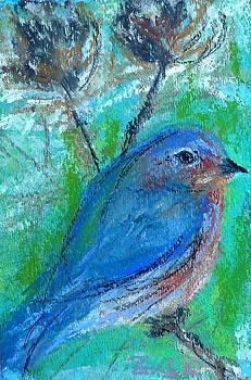 Winter Bird in Blue by Beth Sebring