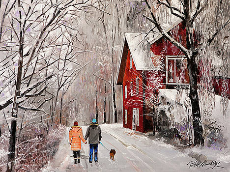 Winter Country Walk by Bill Dunkley