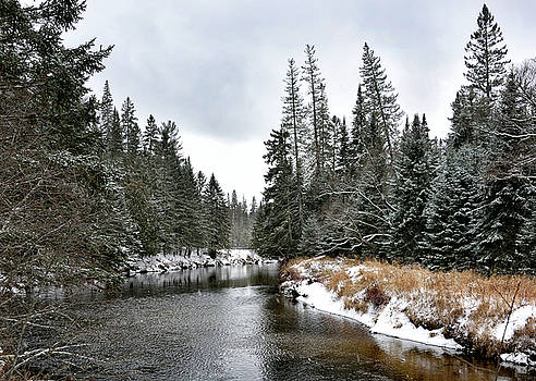 Winter Creek in Adirondack Park - Upstate New York by Brendan Reals
