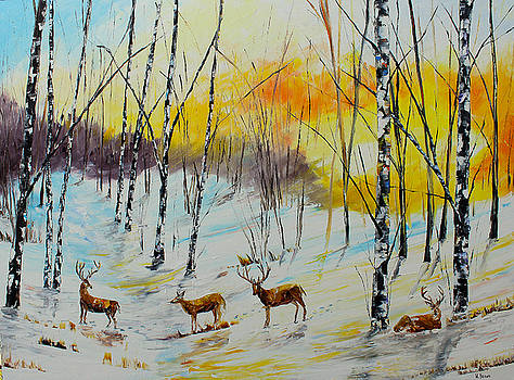 Winter Deer by Kevin Brown
