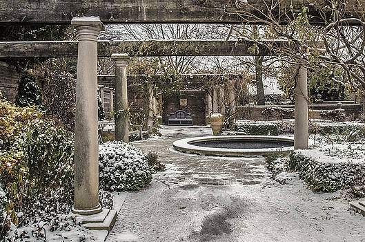 Julie Palencia - Winter English Walled Garden