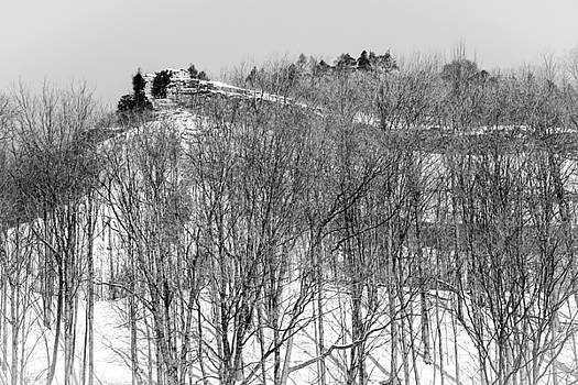 Winter face over Dundas Peak Ontario by Nick Mares