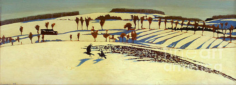 Winter Fields and Crows by Robert Coppen