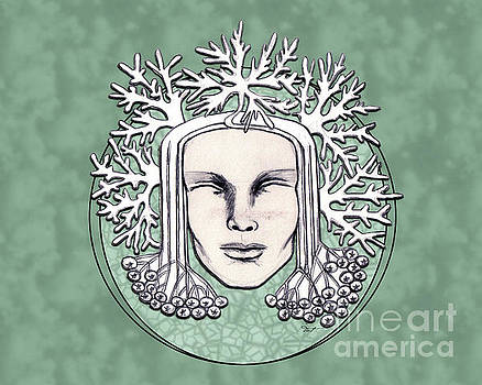 Winter Frost Goddess Green by Dia T