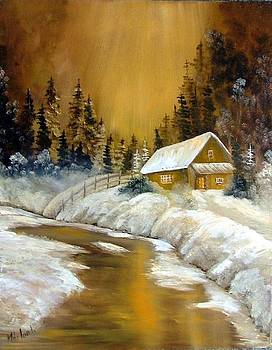 Winter landscape by Ibolya Marton