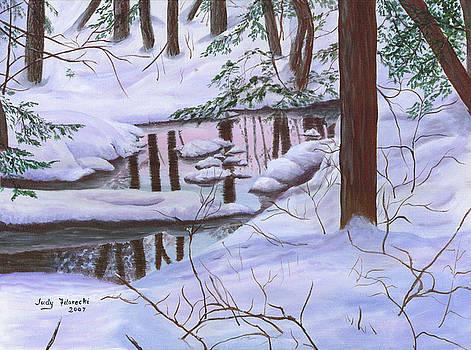 Winter Landscape by Judy Filarecki
