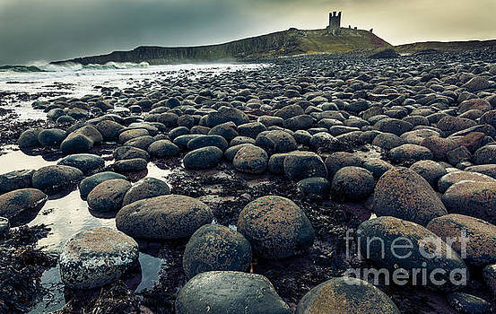 Winter morning at Dunstanburgh Castle 1. by John Cox