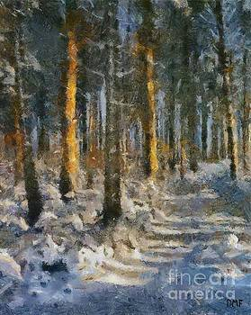 Winter Morning In A Pine Forest by Dragica Micki Fortuna