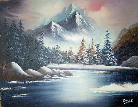 Winter Mountain by Debra Campbell