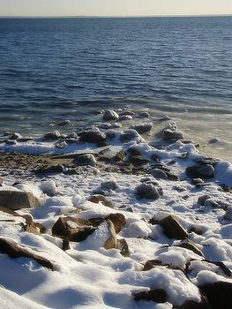 Winter on the Long Island Sound by Kristine Nora