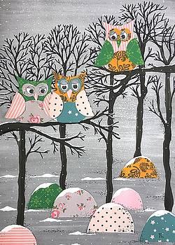 Winter Owls by Stefanie Stark