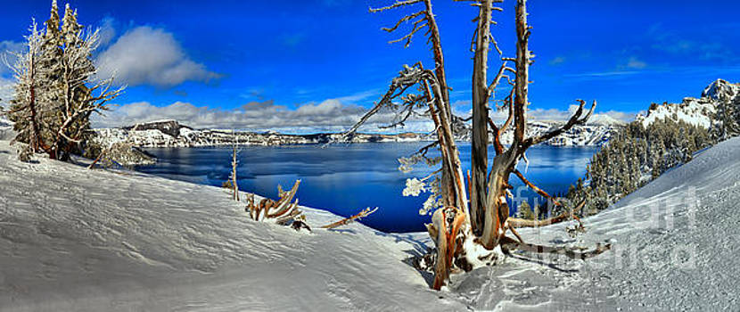 Adam Jewell - Winter Panorama At Crater Lake
