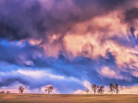 Dominic Piperata - Winter Prairie Sunset