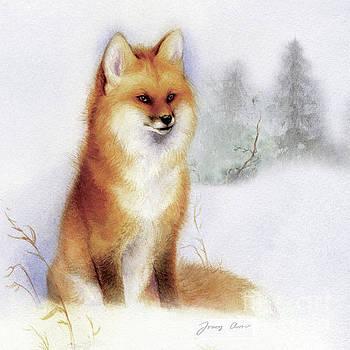 Winter Red Fox by Tracy Herrmann