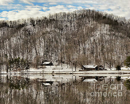 Winter Reflections at Hungry Mother State Park by Kerri Farley