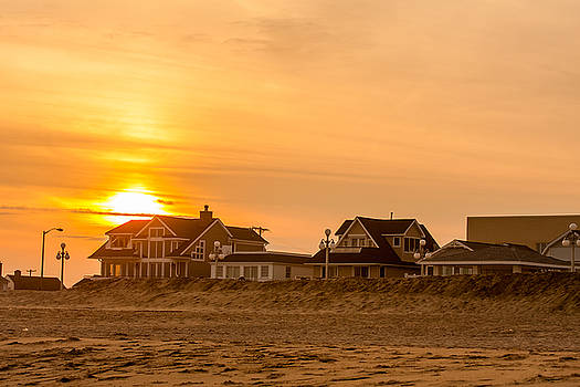 Winter Shore Sunset by Kathleen McGinley