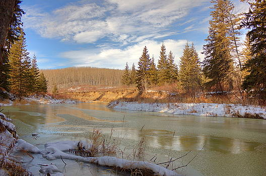 Winter Stream by Jim Sauchyn
