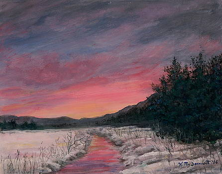 Winter Sundown by Kathleen McDermott