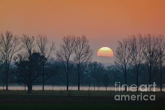 Winter Sunset 1 by Jean Bernard Roussilhe