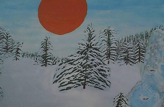 Winter Sunset 1 by Rosemary Mazzulla