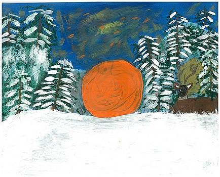 Winter Sunset 2 by Rosemary Mazzulla