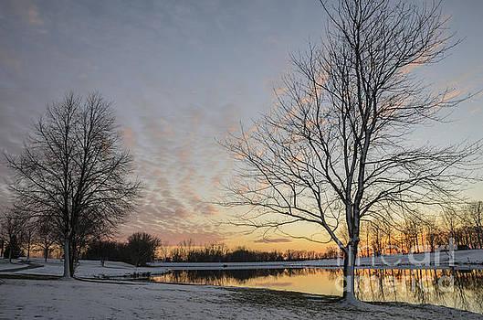Winter Sunset at East Lake by Tamara Becker