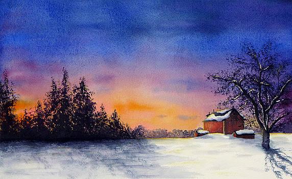 Winter Sunset by Christina Meeusen