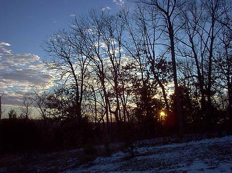 Winter Sunset by Martin Bellmann