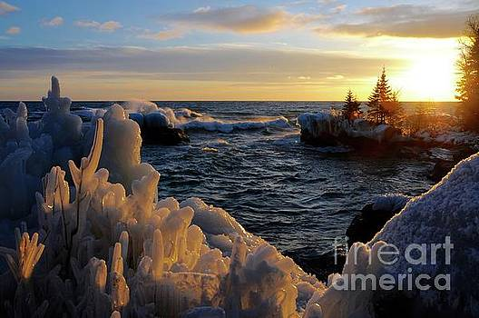 Winter Sunset by Sandra Updyke