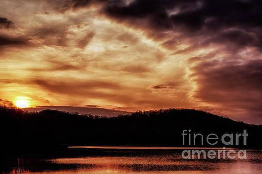 Winter Sunset by Thomas R Fletcher