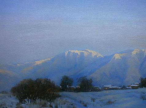 Winter twilight by Yaroslav Kuvshinov