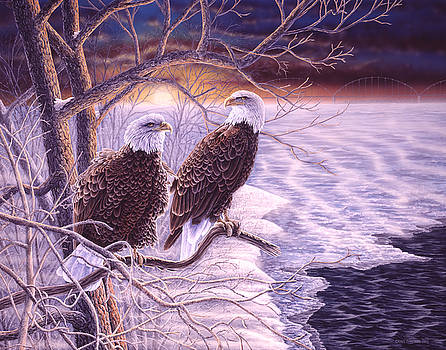 Winter Visitors II - Bald Eagles by Craig Carlson