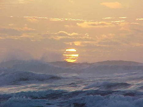 Winter Waves Sunset by Gregory Smith