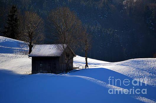 Susanne Van Hulst - Winter Wonderland in Switzerland - The Barn in the Snow