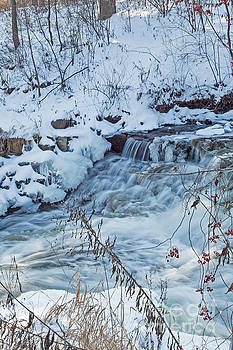Winter Wonderland of Minnehaha Falls  by Natural Focal Point Photography