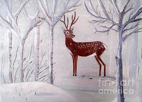 Winter Wonderland - painting by Veronica Rickard