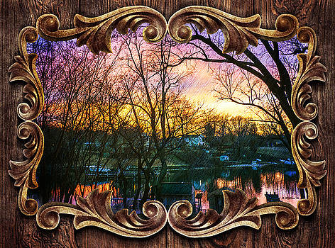 Winter's Dusk - Framed by Brian Wallace