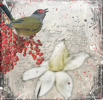 Winter's Fig Bird by Lesley Smitheringale