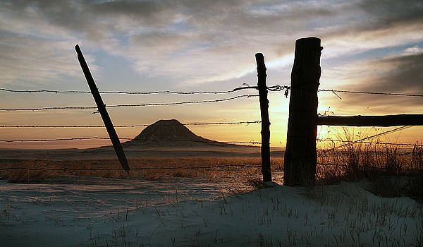 Wire Gate Sacred Butte Sunrise by Buck Lovell