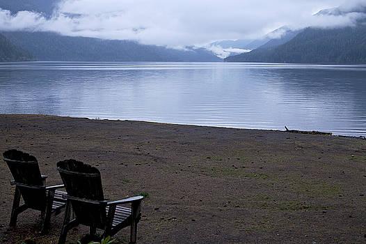 Wish you were here - peaceful lake by Jane Eleanor Nicholas