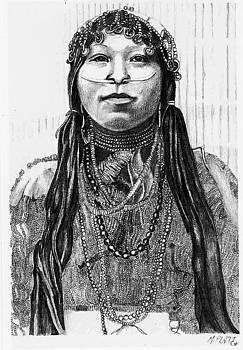 Wishram Woman by Margaret Platt