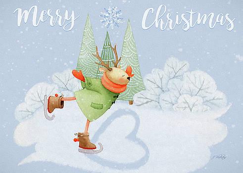 With All My Heart - Christmas Art by Jordan Blackstone