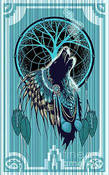 Wolf Indian Shaman by Sassan Filsoof