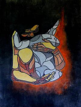 Woman and Child by Sarojit Mazumdar