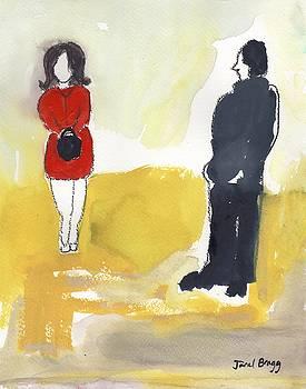 Woman Crossing Street by Janel Bragg
