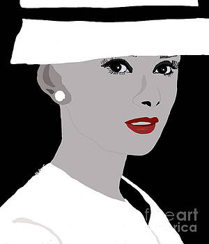 Woman in Black and White Hat by Kate Farrant
